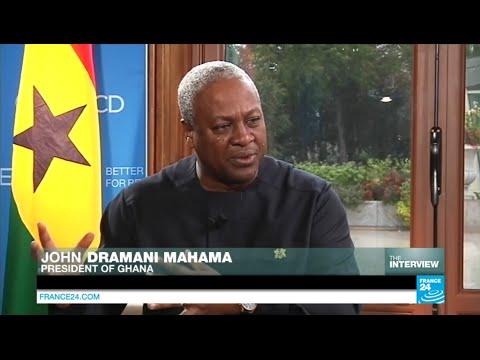 فرانس 24: Exclusive interview with Ghana's president John Dramani Mahama