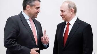 Annäherung an Russland: Sigmar Gabriel trifft Wladimir Putin in St. Petersburg