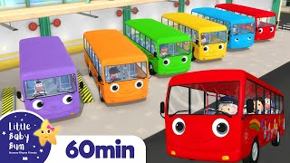 Color Bus Song | Learn Colors - Rainbow Bus | +More Nursery Rhymes | ABCs and 123s | Little Baby Bum