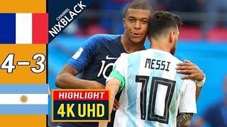 Франция Аргентина 4 3 Обзор Матча 1 8 Финала Чемпионата Мира 30 06 2018 HD