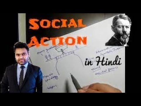 Max Weber - Social Action - Sociology ( in Hindi + English )