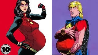 Top 10 Superheroes Who Got Pregnant