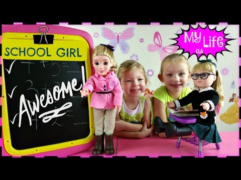 MY LIFE AS a School Girl Doll * My Life as a Pop Star Play Set and Accesories