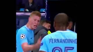 Pep Guardiola tells De Bryune to shut up but De Bryune wants to talk
