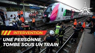 personne tombée sous un train