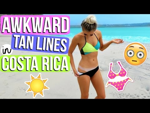 AWKWARD TAN LINES IN COSTA RICA!