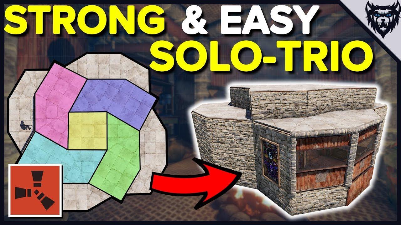 RUST - STRONGHOLD Base Design - Solo-Trio Rust Base Design (2019)