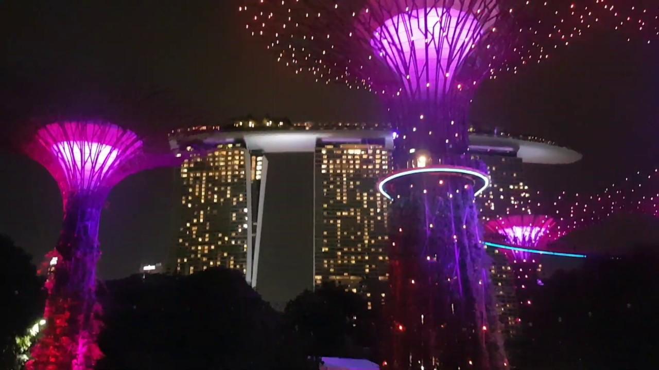 Gardens By The Bay Light Show Singapore November 2018 Youtube