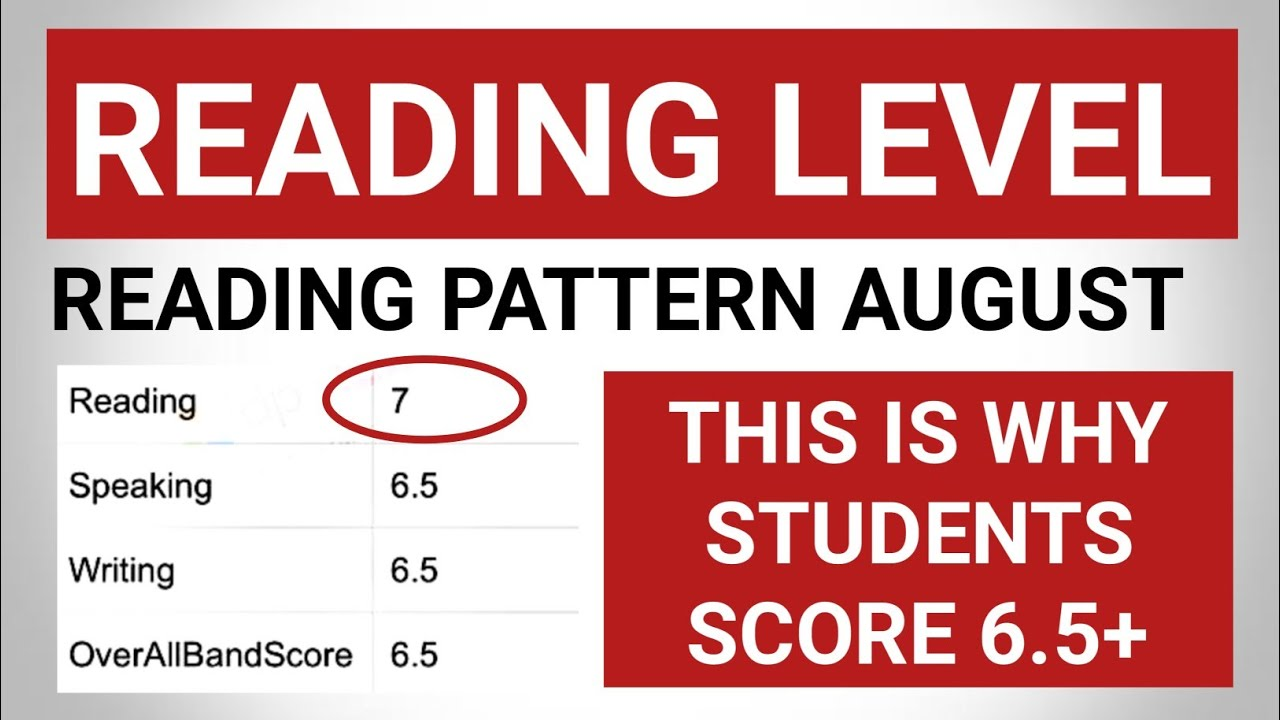 Reading pattern 2021 for 7 August ielts exam | 12 August ielts exam prediction| 21 August ielts exam