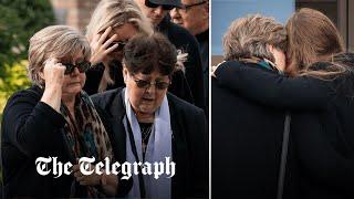 video: Sir David Amess's widow views tributes at church where he died
