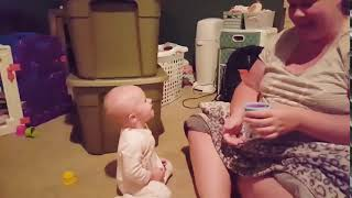 funny baby with his mom - cute baby -
