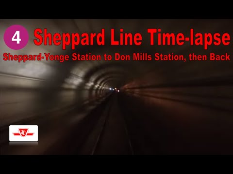 4 Sheppard Line Time-lapse (Sheppard-Yonge Station to Don Mills Station, then Back)