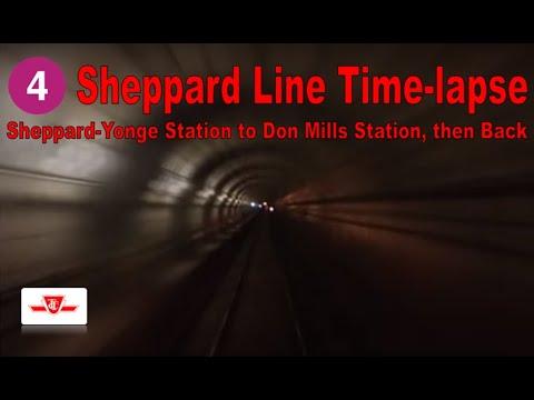 4 Sheppard Line Time-lapse (Sheppard-Yonge Station to Don Mills Station, then Back)