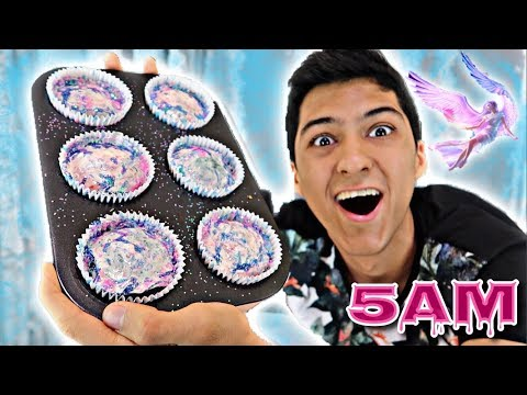 THIS HAPPENS IF YOU MAKE CUPCAKES  AT 5AM!! OMG SO INSANE!!