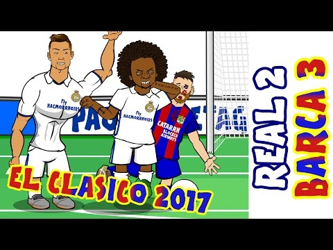 2-3! 🎤THE SHAPE OF MESSI🎤! Real Madrid vs Barcelona (El Clasico 2017  Parody Goals and Highlights)