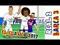2 3 🎤THE SHAPE OF MESSI🎤 Real Madrid vs Barcelona El Clasico 2017 Parody Goals and Highlights