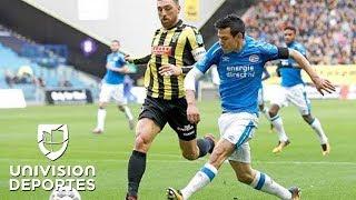 Resumen de PSV 4-2 Vitesse: Dos goles de Hirving 'Chucky' Lozano