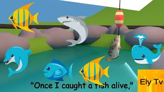 1 2 3 4 5 once i caught a fish alive song with lyrics and subtitles