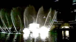 Dubai Mall Rainy Day Dancing Fountain 30 Nov 2012 By Murtaza Hussain
