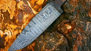 Making a knife from Alec's Steele damascus