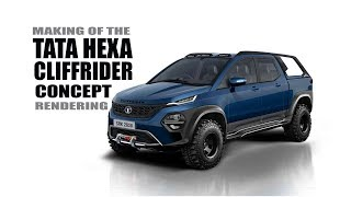 Tata Hexa Cliffrider Concept - Rendering - Making Video | SRK Designs