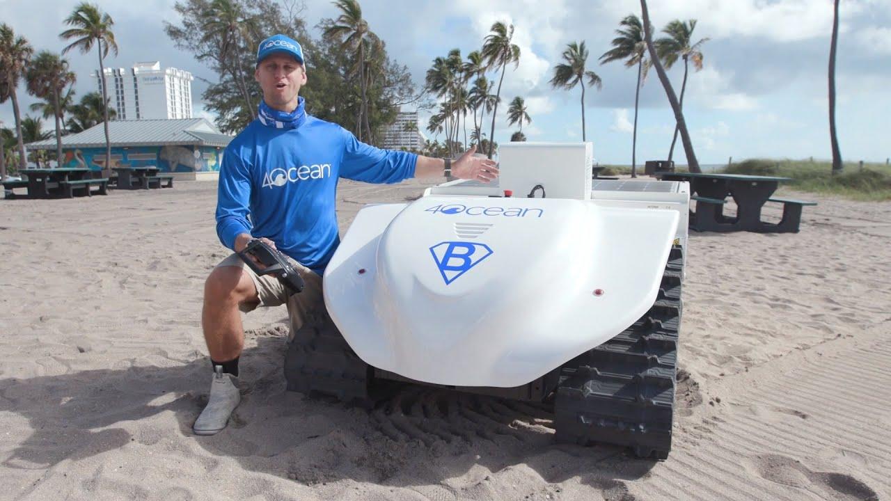 Meet the BeBot, a beach cleaning robot!