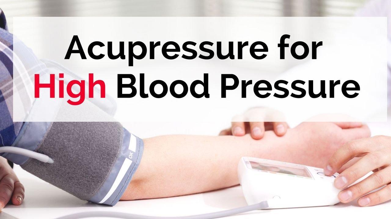 How to control high blood pressure immediately acupressure