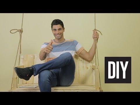 Φτιάξε μόνος σου μια ξύλινη κρεμαστή κούνια για τον κήπο ή το μπαλκόνι σου | Dot