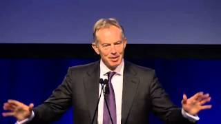 Tony Blair discusses the internationalization of higher education
