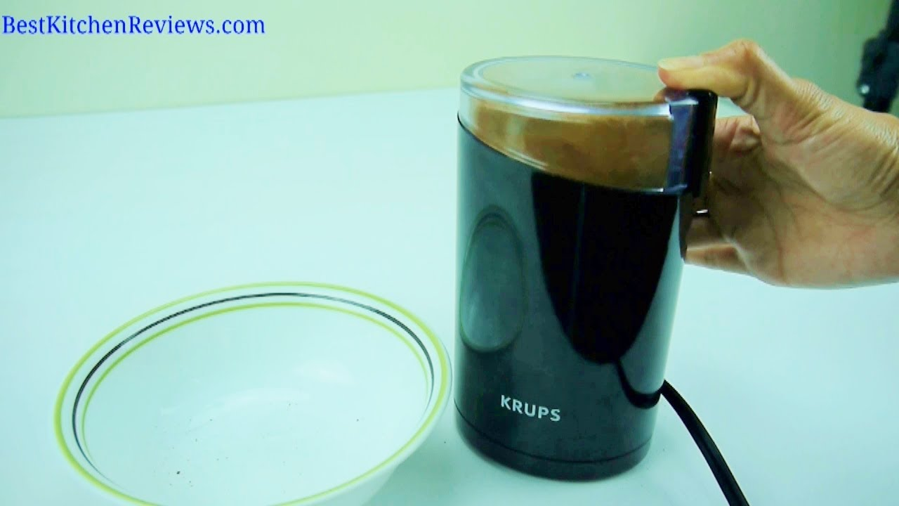 Krups 203 Electric Coffee and Spice Grinder Reviewed - YouTube