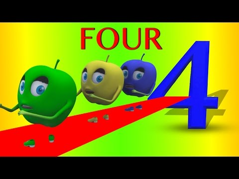 Numbers Song | Number 4 | Nursery Rhymes | Original Song By Rhymes Bus