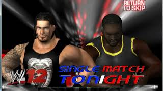 Roman Reigns vs Mark Henry in WWE 12 PC Game