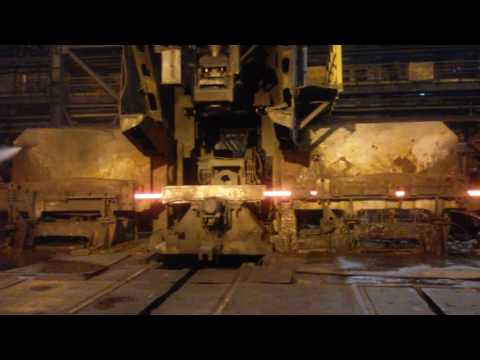 Making of iron rods from large beams in vizag steel plant
