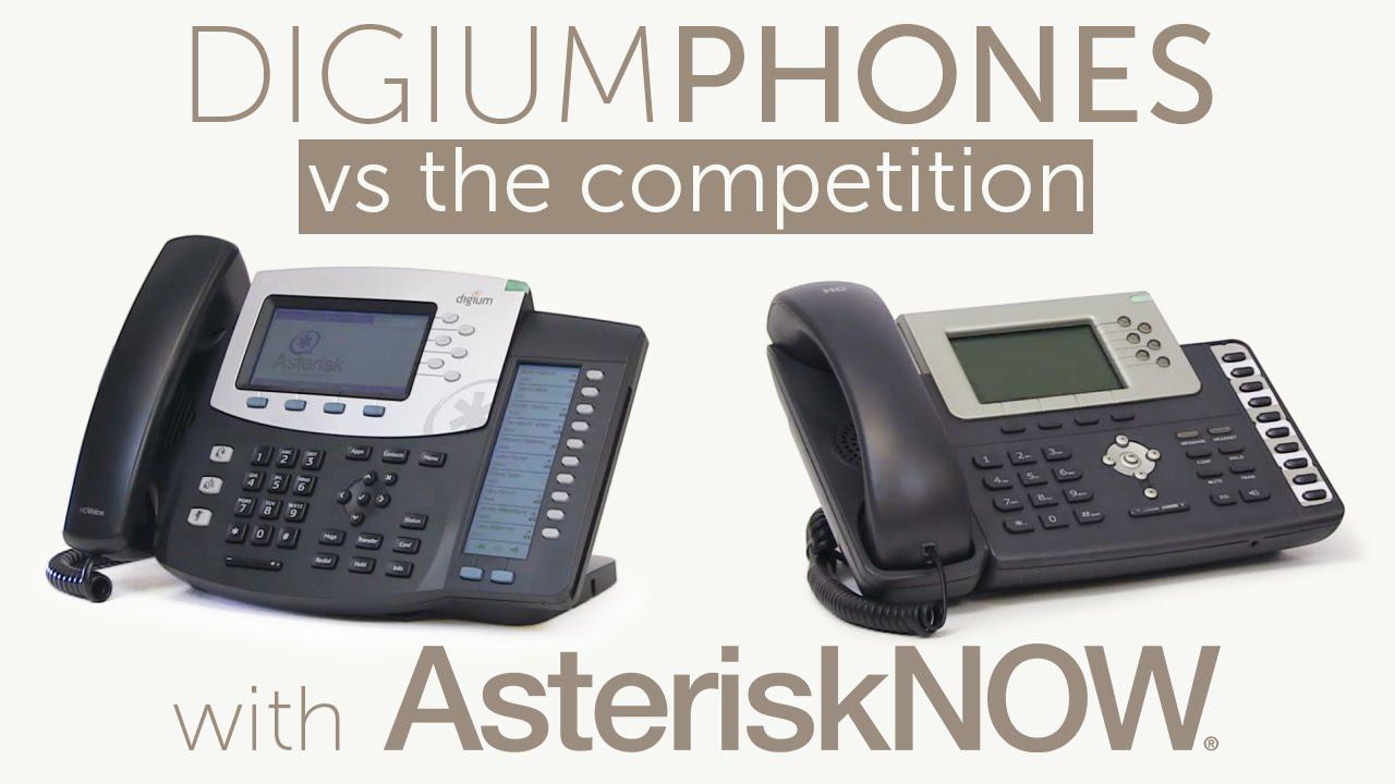 Digium D40, D45, D50, & D60 Phones vs The Competition | Asterisk Now