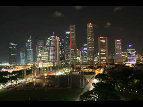 Singapore Central Business District - Canon 5D HD Time Lapse