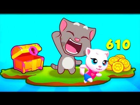 ГОВОРЯЩИЙ ТОМ БЕГ ЗА СЛАДОСТЯМИ #3 ДРУЗЬЯ Бен Хэнк Джинджер! Игровой мультик  Talking Tom Candy Run