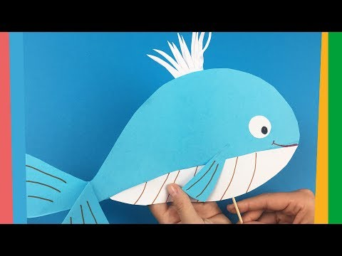 How To Make Paper Whale - Easy And Funny DIY For Kids