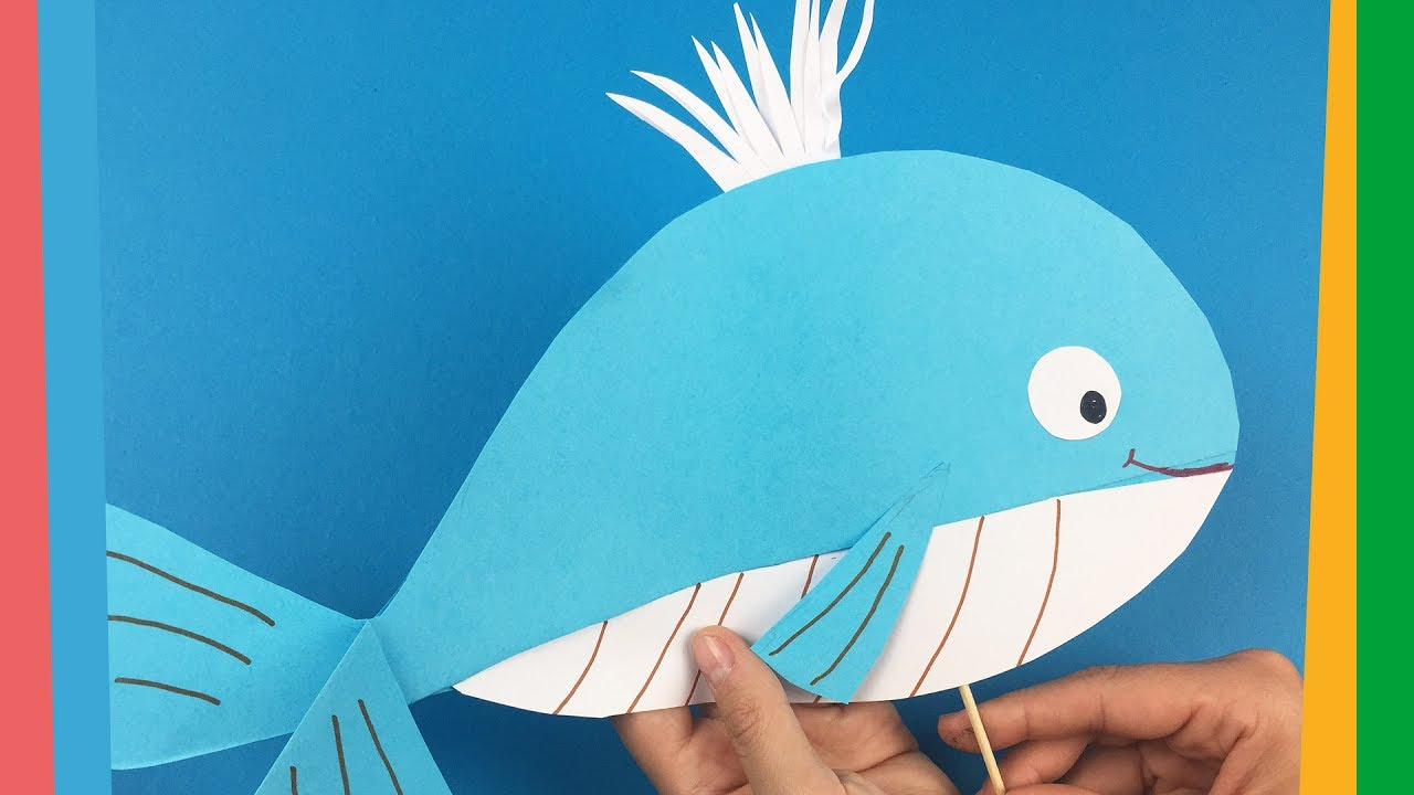 How To Make Paper Whale Easy And Funny Diy For Kids Youtube