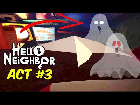 UNCLE KE GHAR ME BHOOT | Hello Neighbor ACT 3 [ Part#3 ]  Horror game Full Gameplay