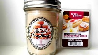 CANDLE DUPE ALERT! BBW Cinnamon Sugar Doughnut vs Better Homes and Gardens Perfect Corner Bakery(You MUST try this wax tart if you love Bath and Body Works Cinnamon Sugar Doughnut! Its the best dupe I have ever found! If you missed my haul where I ..., 2014-06-26T21:24:22.000Z)