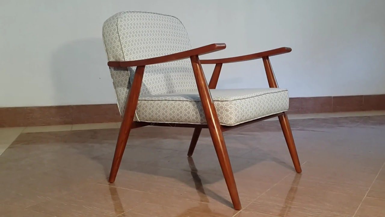 Mid Century Modern Danish Teak Chair VIXIDesign.com   YouTube