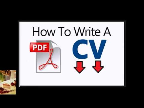 We All Need To Know  How To Write Cv Pdf