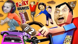 WE'RE GONNA CRASH! HE'S GONNA POOP! Faily Brakes & Muddy Heights #2 w/ Chase (FGTEEV Gameplay)