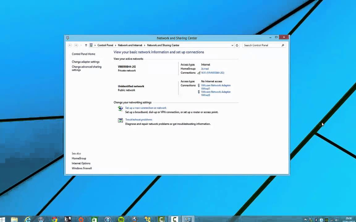 how to see wifi password on windows 8