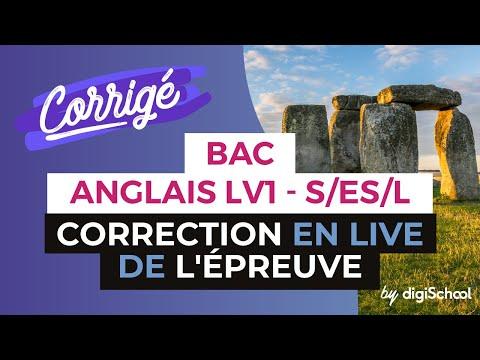 Bac 2017  Corrigé d'Anglais LV1 séries ES, S et L