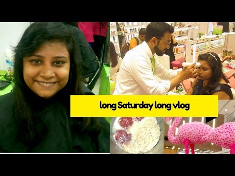 Long Saturday Long Vlog|New HairCut|Skin Test At Nykaa Workshop|Evening with Hubby|No Sugar Smoothie
