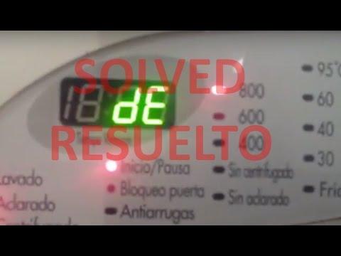 Error dE, DE, WASHING MACHINES Displayed dE, RESOLVED