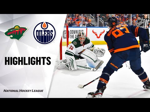NHL Highlights | Wild @ Oilers 2/21/20