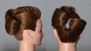 Вечерняя, свадебная прическа. Wedding prom hairstyle tutorial