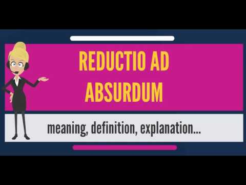 What is REDUCTIO AD ABSURDUM? What does REDUCTIO AD ABSURDUM mean ...